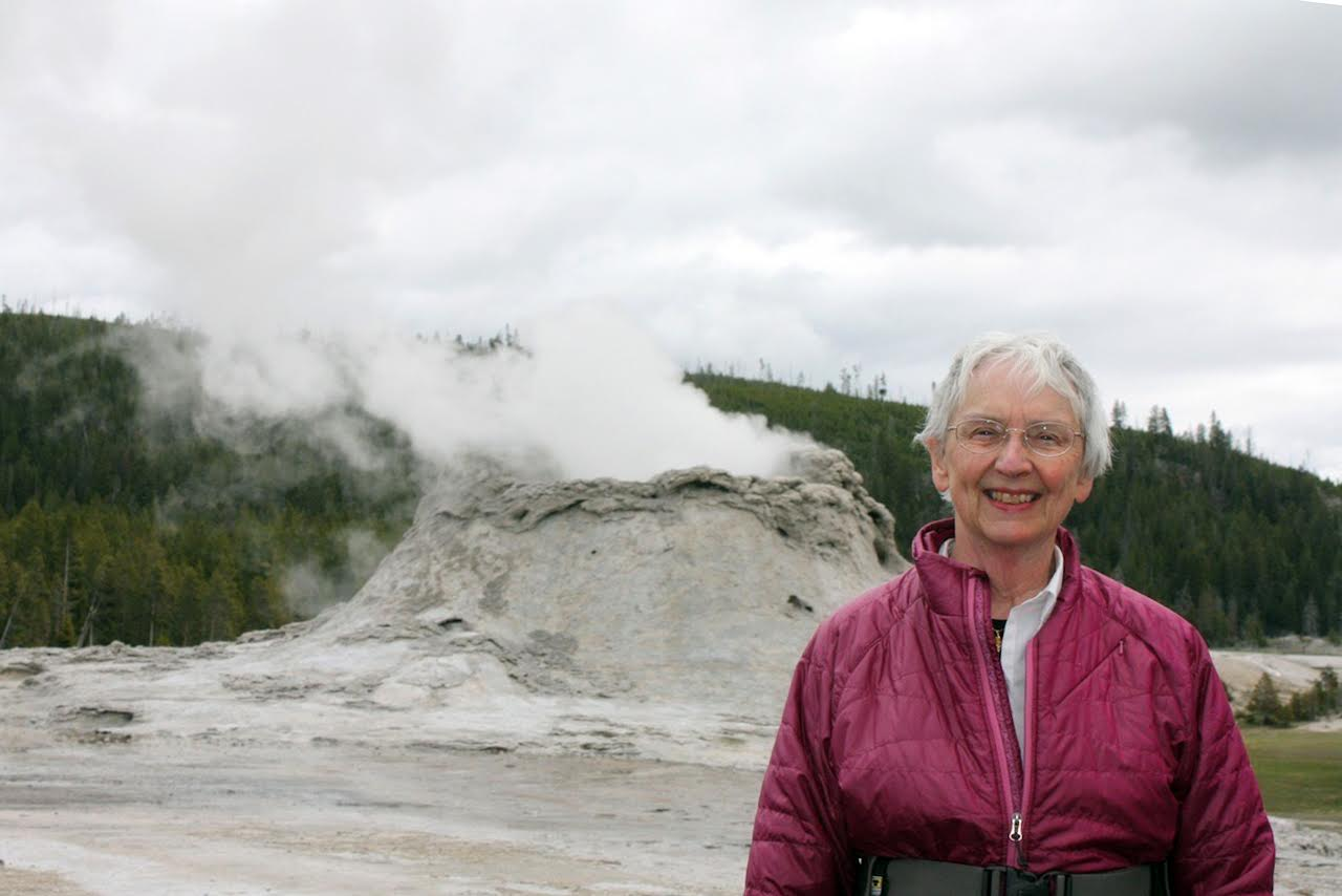 Janet at Castle Geyser