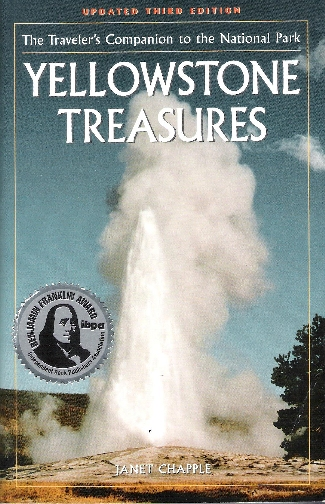 Yellowstone Treasures 3rd edition cover with award