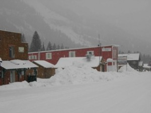 Cooke City in the snow