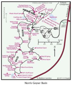 Norris Geyser Basin map
