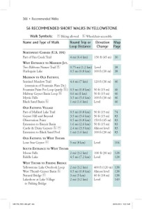 Yellowstone Treasures walk chart page 366