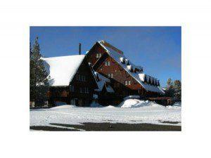 Old Faithful Inn in the snow