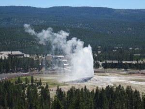 Old Faithful from Observation Point