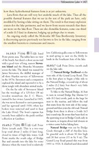 Yellowstone Lake sidebar page 147