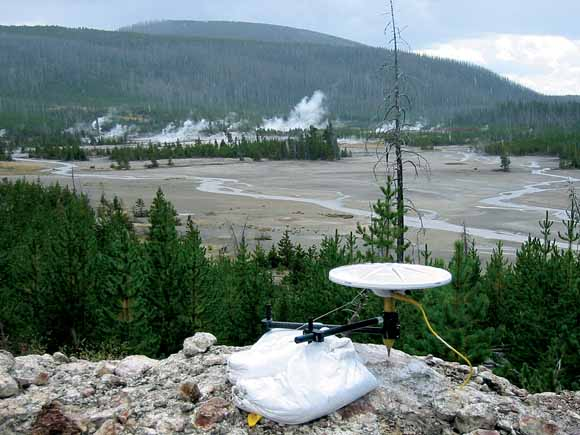 GPS station at Norris Geyser Basin