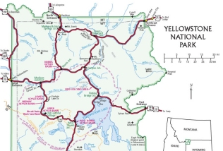 overview map of Yellowstone