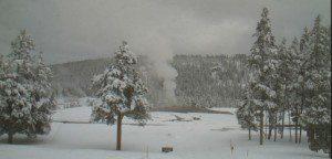 snowfall Old Faithful