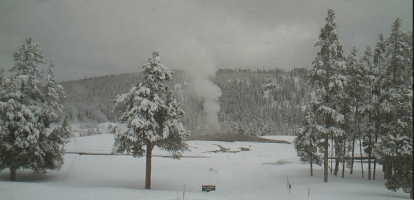 snowfall Old Faithful