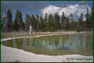 Thomas Brock at Mushroom Pool