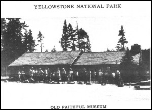 ranger station museum Old Faithful 1953