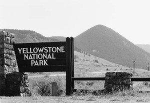 park entrance sign