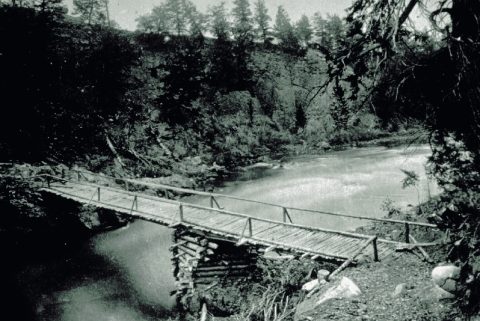 Jack Baronett wooden bridge