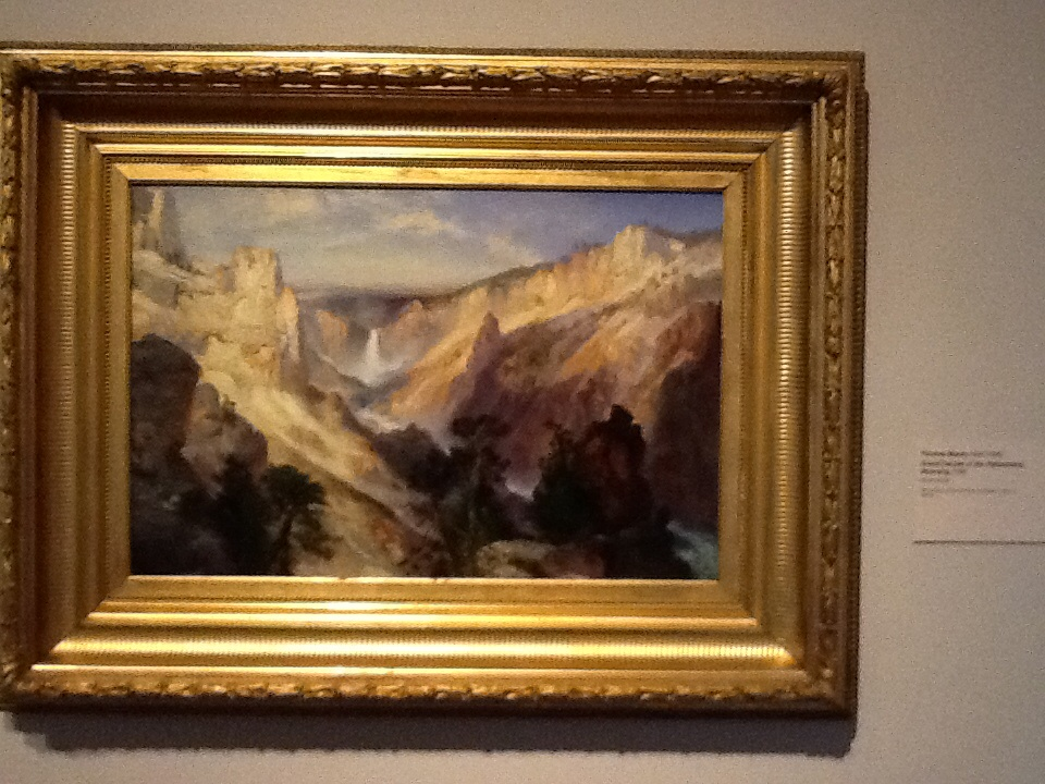 Moran painting of Grand Canyon of the Yellowstone River