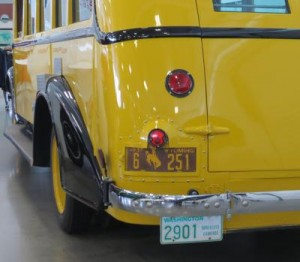 back of Yellowstone bus