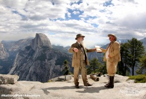 National Parks Adventure still with Muir and Roosevelt