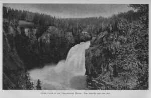 upper falls Yellowstone 1895
