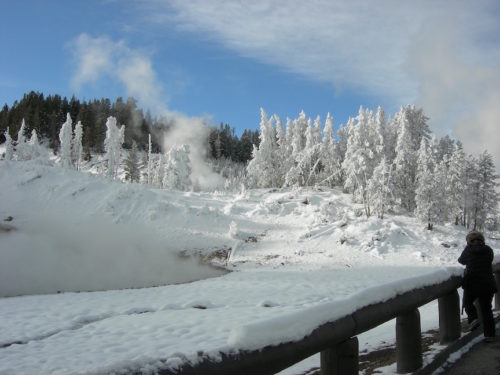 Mud Volcano winter