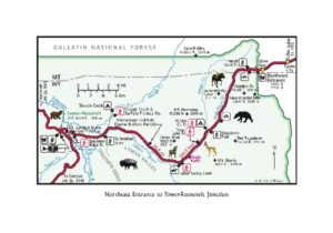 Yellowstone Treasures map