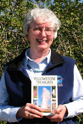 Janet Chapple with First Edition Yellowstone Treasures