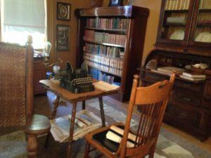 Muir study with typewriter