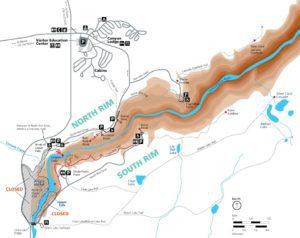 NPS Yellowstone Canyon Closures Map