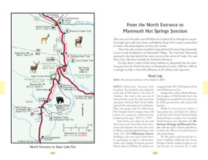 map and road log Yellowstone Treasures 6th edition