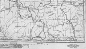 Alice Morris Yellowstone Trails map