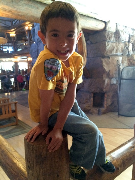 Micah at Old Faithful Inn